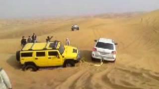 Arabian Offroad Academy Land Cruiser Rescues Hummer H2