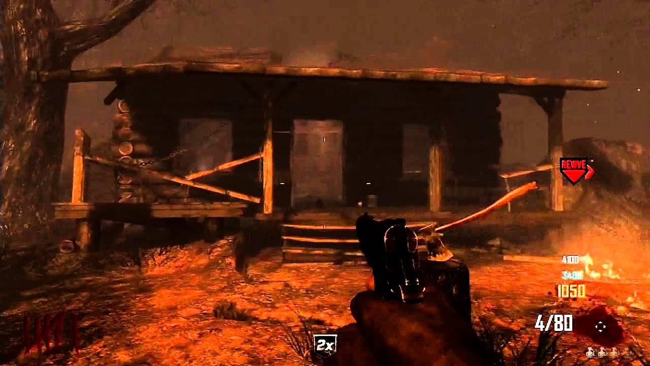 Black Ops 2 Zombies TranZit Hidden Log Cabin & Bowie Knife Location ...