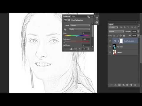 Hướng dẫn chuyển ảnh thành tranh vẽ chì trên Photoshop