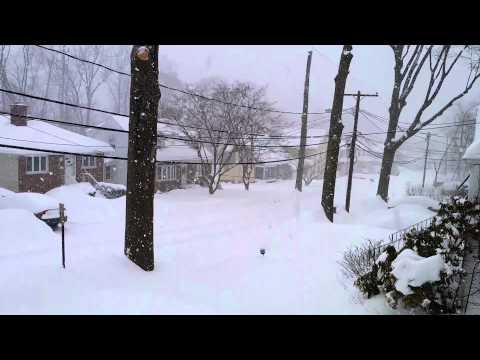 Northeast Noreaster 2014 - Heavy Snow - HD