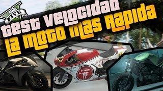 GTA V - Test de Velocidad / La moto mas rápida de GTA 5