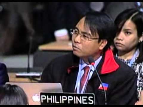 Speech of Philippines delegate on hunger strike to demand action on climate change