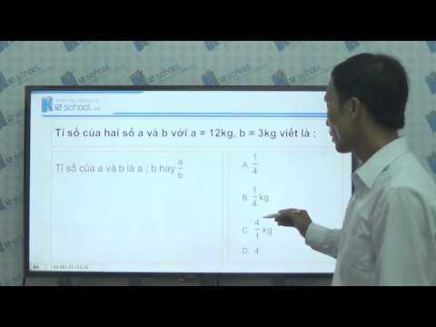 [Toán tiểu học] [Toán 4, Toán lớp 4] - Giới thiệu tỉ số (Tuần 29) - [LIKA-K12School]