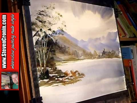 Watercolour painting tutorial buttermere lake district for Video tutorial on watercolor painting