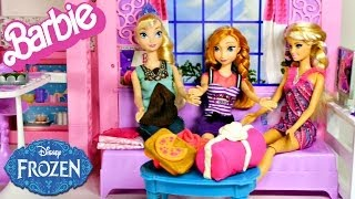 Barbie Glam Vacation House With Disney's Frozen Elsa And