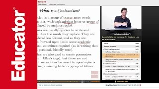 """Forming Contractions"" 