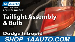 How To Install Replace Taillight Assembly And Bulb Dodge