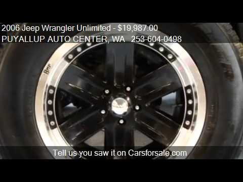 2006 Jeep Wrangler Unlimited X - for sale in PUYALLUP, WA 98