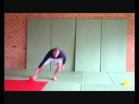 Workouts for Judo - skip side step 180 spin