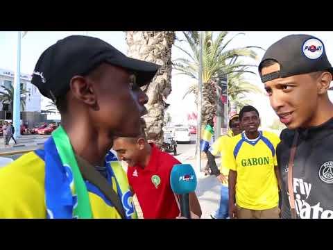 حوار مغربي غابوني رائع ومضحك حول نتيجة مباراة المغرب والغابون