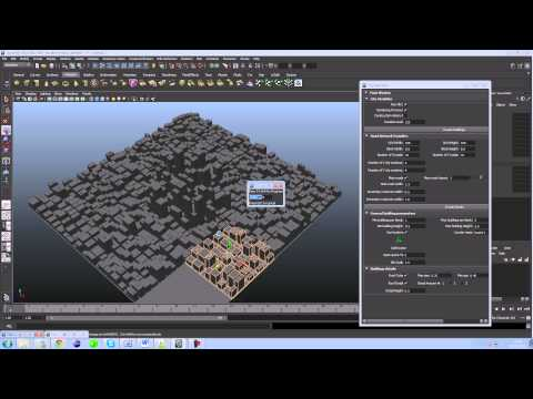 Autodesk Maya procedural city generator