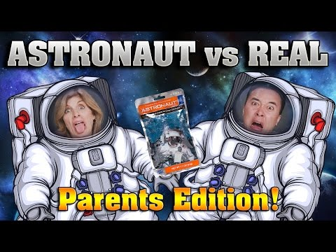 ASTRONAUT VS. REAL FOOD CHALLENGE!!! Parents Edition Taste Test!