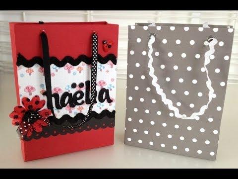 Tutoriel scrapbooking cr er un sac cadeau youtube - Faire un beau paquet cadeau ...