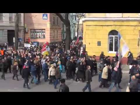 February 23, 2014 Hundreds of thousands of People's Militia ODESSA Ukraine