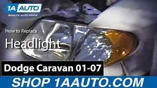 How To Install Replace Headlight Dodge Caravan Chrysler
