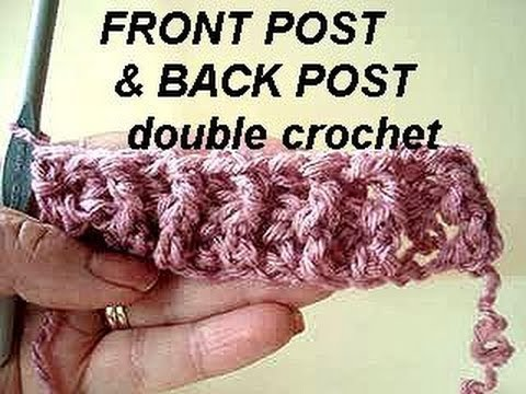 Crochet Stitches Instructions For Front-Post Double Crochet : Front post half double crochet (FPhdc) - Crochet Stitch