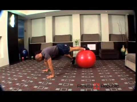 Prone Plank and Lateral Leg Abduction on Stability Ball - Fitness Repu
