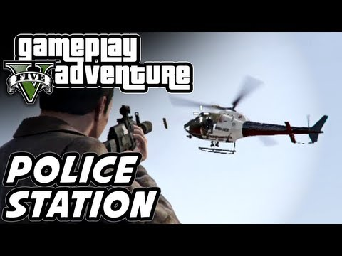 GTA 5 Gameplay Adventure - Los Santos Police Station Assault