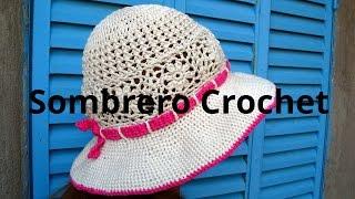 Sombrero Playero En Tejido Crochet Tutorial Paso A Paso