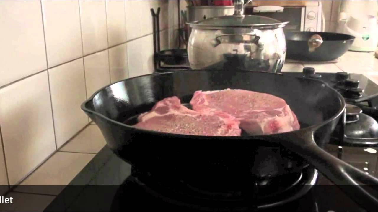 How To Pan Sear Pork Chops In Cast Iron Skillet Cast