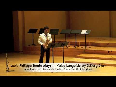 Louis Philippe Bonin plays II Valse Languide by S Karg Elert