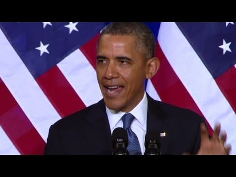 President Barack Obama talks about U.S. intelligence