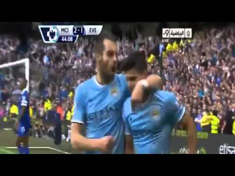 Manchester City Vs Everton 3 1 Highlights All Goals Sergio  Aguero Amazing Goals