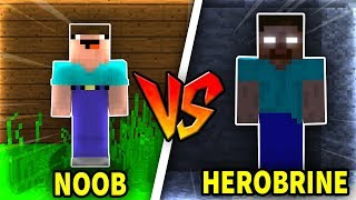 THỬ THÁCH Troll NOOB Bằng HEROBRINE Trong Minecraft!!!