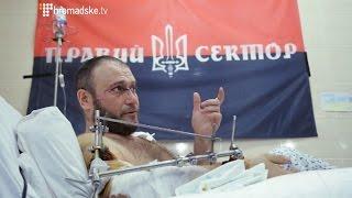 Лідер «Правого сектору» дав перше інтерв'ю після поранення