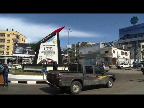 Hamas unveils rocket monument in Gaza City