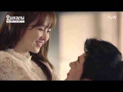 Sweet Korean Drama Kiss Scene   Oh My Ghost episode 16 Na Bong Sun and Kang Sun Woo