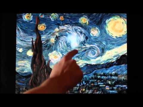 Van Gogh Starry Night Interactive Animation (music by Gig McKell)