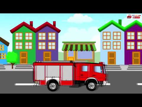 Ô tô hoạt hình xe cứu hỏa cho bé - Chữa cháy, cứu người