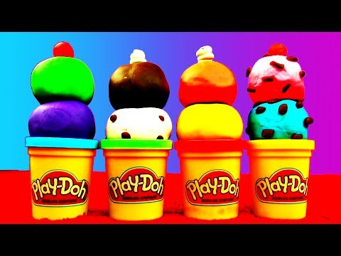 Play Doh Ice cream Playdough Cars Angrybirds Spongebob icecream Unboxing Surprise Eggs Batman Disney