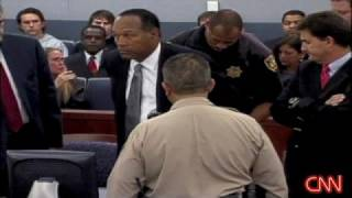 OJ Simpson : GUILTY ! OJ Is Cuffed In Court