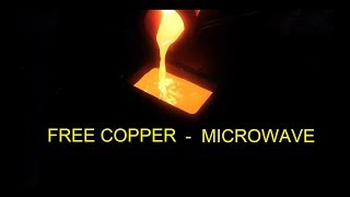 Free Copper - Copper Bar from a Microwave Oven