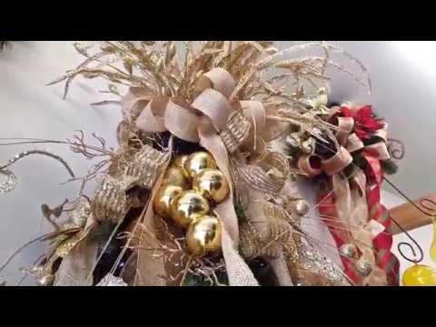varias ideas para decorar arbol de navidad en dorado 2014