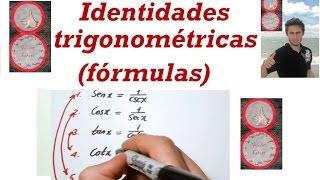 Fórmulas de Identidades Trigonométricas