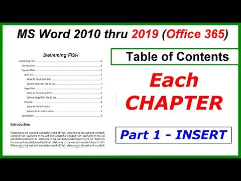 Как сделать table of contents