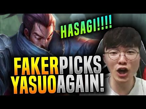 Faker is Ready to Play Yasuo Mid! - SKT T1 Faker Picks Yasuo Mid! | SKT T1 Replays