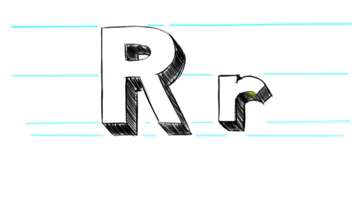 Letter R Images 3d Images How to Draw 3D Letters...