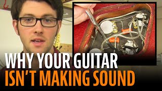 Watch the Trade Secrets Video, No sound from your guitar? Let's talk about short circuits...