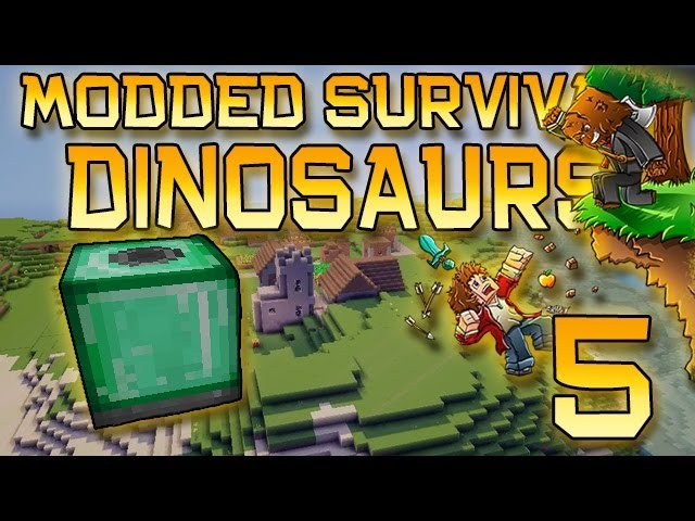 Minecraft: Modded Dinosaur Survival Let's Play w/Mitch! Ep. 5 - Culture Vat!