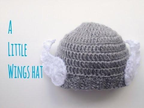 Cách móc hình cánh chim trang trí cho mũ len