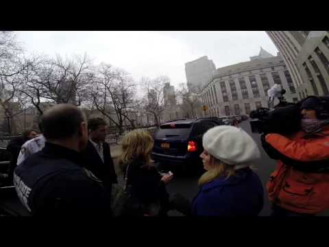 Sam Worthington Leaving Manhattan Criminal Court