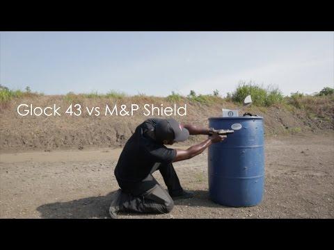 Glock 42 380 vs glock 43 9mm vs s amp w 9mm shield