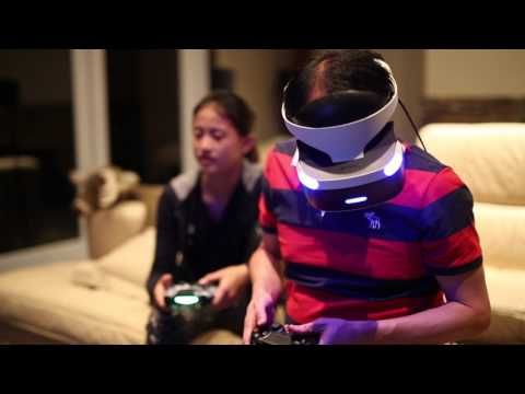 The Choy's having fun with Playroom VR