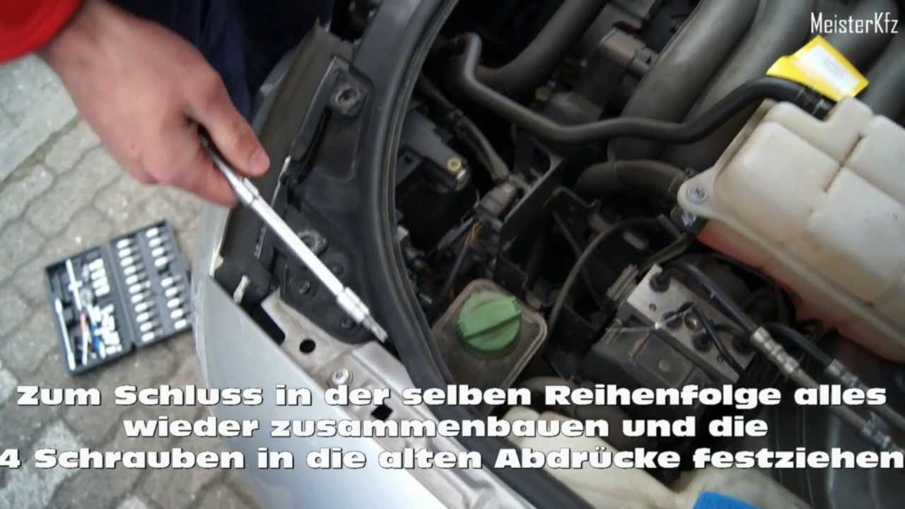 Audi A4 8e Gl 252 Hlampe Leuchtmittel Auswechseln How To