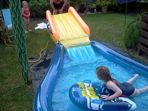 Summer Fun With Water Slide With Kids a Grown Up Kids And ...