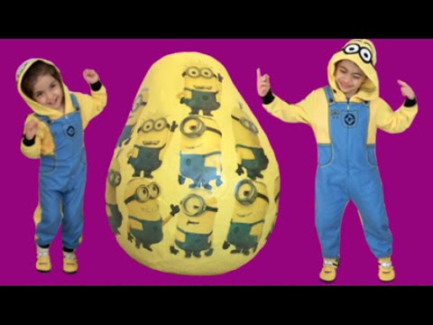 Minions New 2015 Surprise Egg Toys From Despicable Me Movie ft. Banana Song, Playdoh, Kinder Eggs
